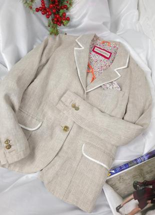 Льняной пиджак италия