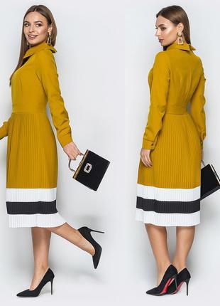 Модне плаття зі спідницею плісе, розмір L