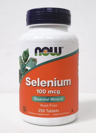 Селен Now Foods, 100 мкг, 250 таблеток