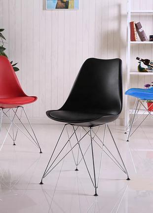 Пластиковый стул с мягкой подушкой Тауэр С,голубой, красный,белый