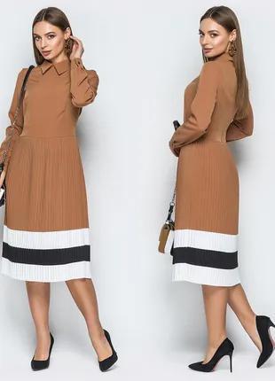 Молодіжня сукня зі спідницею плісе, розмір М
