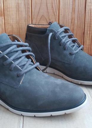 Кожаные удобные утеплённые стильные португальские ботинки sсhm...