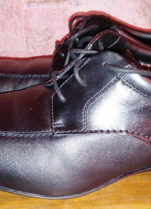 Кожаные туфли clarks, размер-42