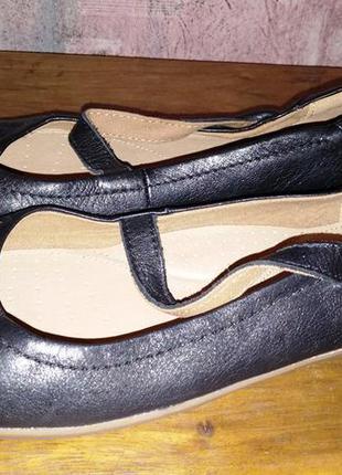 Кожаные туфли tu comfort,37-38р