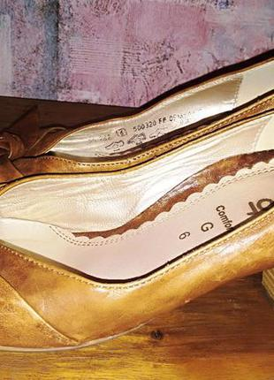 Кожаные туфли gabor, 39р