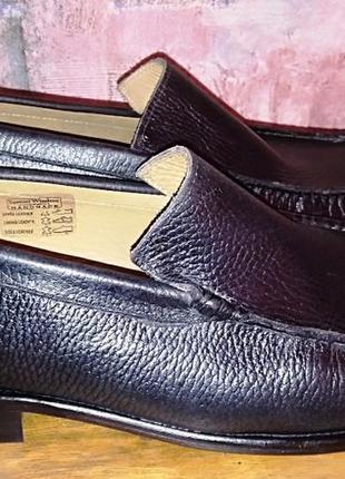 Полностью кожаные туфли samuel windsor, 43-43,5р