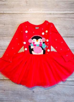 Новогоднее нарядное пышное платье next на девочку 12-18 месяцев