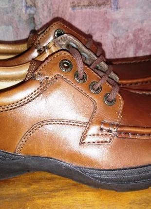 Кожаные туфли clarks, 40р