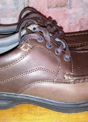 Кожаные туфли clarks, размер-41