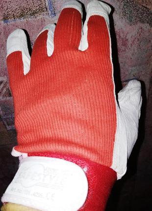 Кожаные перчатки safestyle, мото-вело