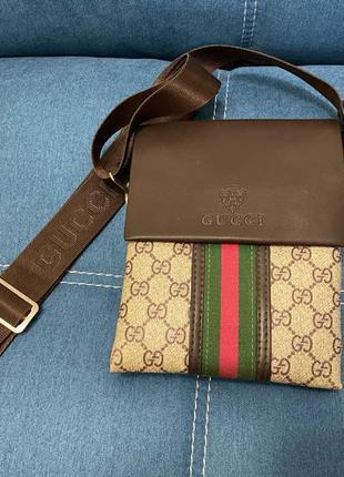 сумка Gucci мужская коричнев.