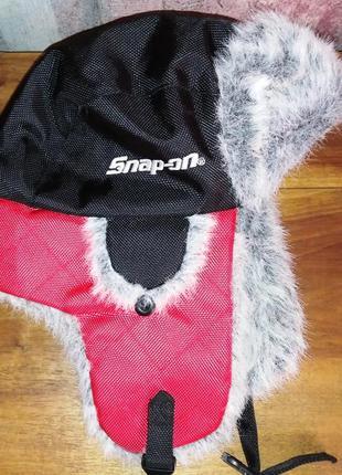 Спортивная шапка-ушанка choko