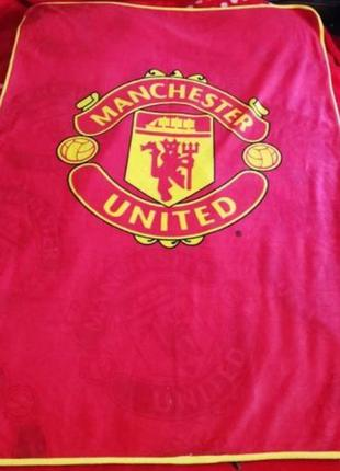 Плед с символикой fc manchester united