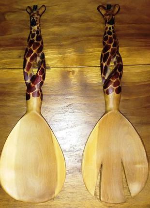 Декоративные столовые приборы жирафы