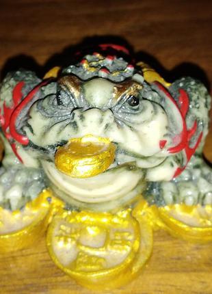 Статуэтка денежная жабка, фен-шуй