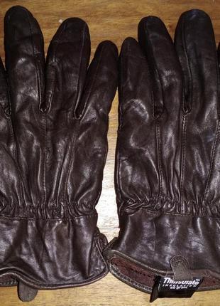 Кожаные перчатки thinsulate