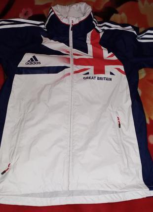 Спортивная ветровка-дождевик adidas, great britain, 46р