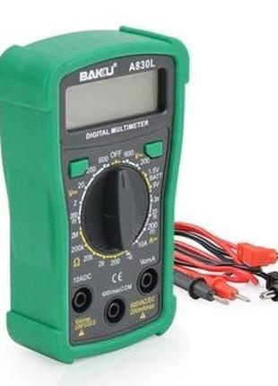 Мультиметр BAKKU BK-A830L Измерения: V, A, R (133*90*45) 0.2кг...