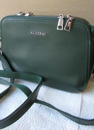 Женская кожаная сумочка, клатч,  от тм alex rai