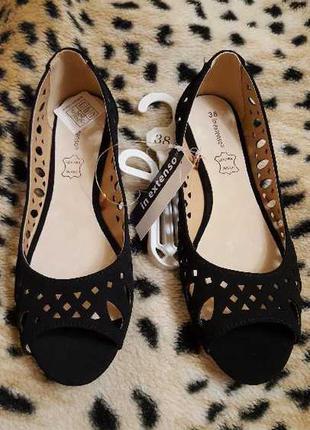 Женские туфли с открытым носком р. 37 новые