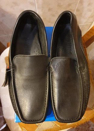Мужские кожаные туфли мокасины 40 р