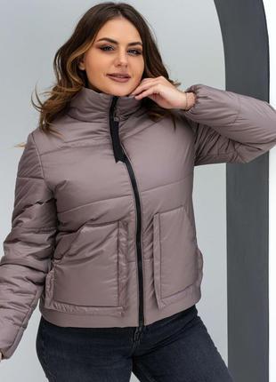 Демисезонная куртка  бежевый на силиконе