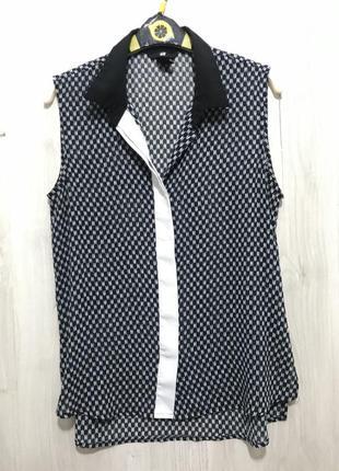 Рубашка - блуза безрукавка