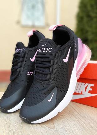 Кроссовки nike air max 270 черные с розовым