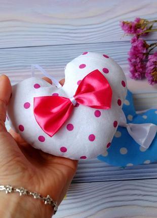 Декоративное сердечко, велентинка, игольница