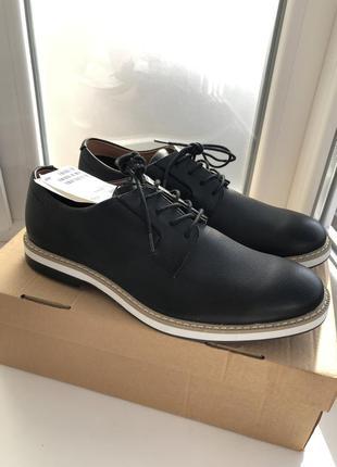 Кожаные ботинки дерби h&m premium quality !