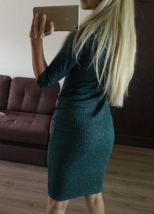 Платье платице сарафан резинка лапша красивый зеленый цвет
