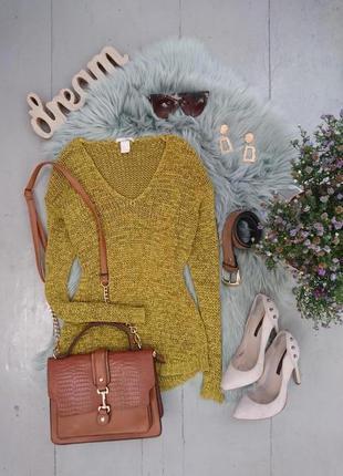 Актуальный джемпер свитер пуловер свободной вязки №8max