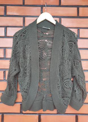 Вязанная накидка bhs цвета хаки