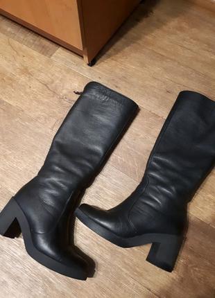 Зимние кожаные сапоги 37 р