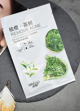 Маска для лица bingju tea tree removing acne mask с экстрактом...