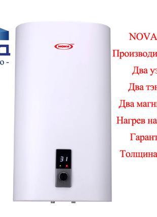 Плоский водонагреватель, бойлер NOVA TEC Flat -50, 80, 100 литров
