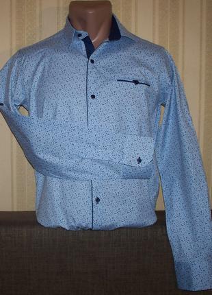 Рубашка трансформер приталенная юниорам 164,170,176 Турция