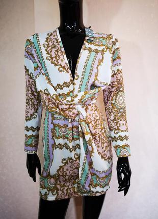Акция 1+1=3 нежное фактурное мини платье с драпировкой boohoo