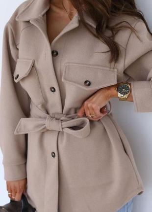 Женское пальто рубашка кашемир