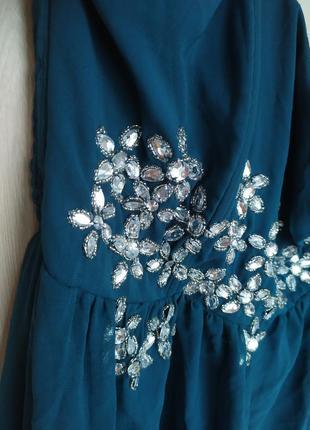 Платье бюстье с декором