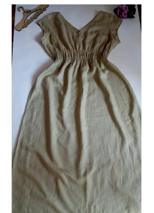Платье лляное новое макси в пол нарядное вечернее 54 56 размер