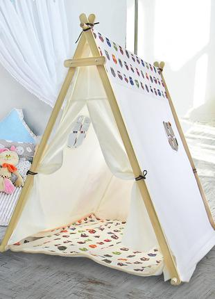 Детская игровая палатка Littledove TT-TO1 Лесные совы вигвам д...