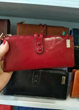 Кошелек женский jccs 1079 красный кожаный