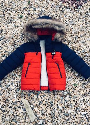 Зимняя куртка мальчик от 3 до 7 лет, коллекция 2018 (размеры 9...