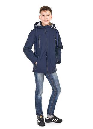 Весенняя куртка с наушниками для мальчика от 9 до 14 лет