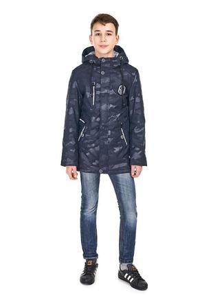 Весенняя куртка с наушниками для мальчика, размеры 146-170