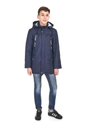 Весенняя куртка с наушниками для мальчика, размеры 140-164