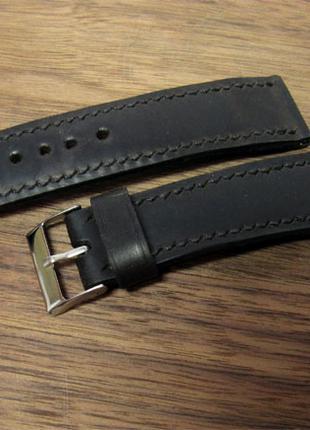 Ремешок для часов, кожаный, 24мм