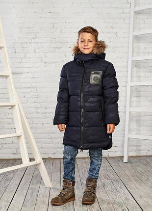 Теплая зимняя куртка на мальчика 11-16 лет, есть размеры