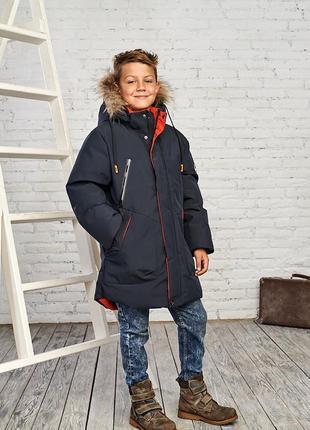 Зимняя куртка на мальчика 8-13 лет от rtj есть размеры и замеры